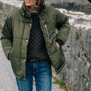 Vintage Green Aran Sweater | Size S | Wool